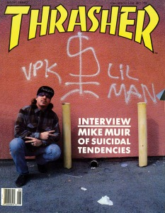 A capa da Trasher com Mike