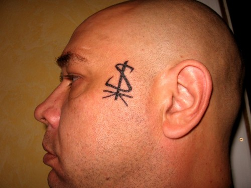 Tatuagem do Sergey, russo chegado do blog e dono do site espetacular Suicidal.Su (ver nos links)